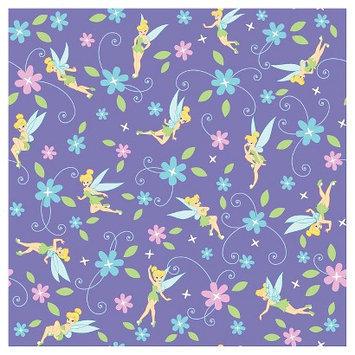 Disney Tinkerbell Flowers Fabric