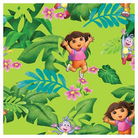 Nickelodeon Dora The Explorer Jungle Fun Fabric
