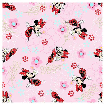Minnie Mouse Floral Garden Fabric