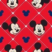 Disney Mickey Mouse Argyle Coral Fleece Fabric
