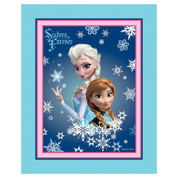 Frozen Sisters Forever No Sew Fleece Throw Kit