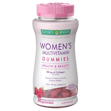 Optimal Solutions Women's Raspberry Multivitamin Gummies - 80 Count