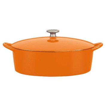Mario Batali by Dansk 6-quart Persimmon Oval Dutch Oven