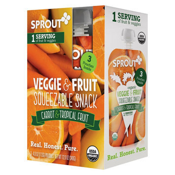 Sprout Carrot & Tropical Fruit 3 pk