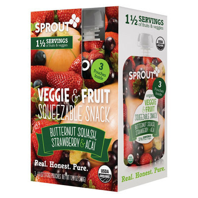 Sprout Butternut Squash, Strawberry & Acai 3 pk