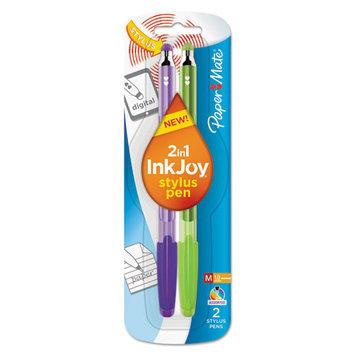 InkJoy 100 Stick Stylus Ballpoint Pens, 1.0mm, Assorted, 2 per Pack