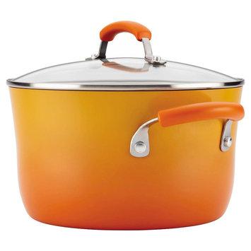 Rachael Ray Covered Stock Pot Orange (6 qt)