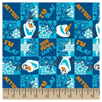 Frozen Olaf Chillin Flannel Fabric