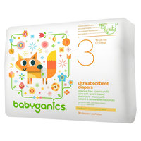 Babies R Us Babyganics Size 3 Ultra Absorbent Jumbo Diapers 31ct