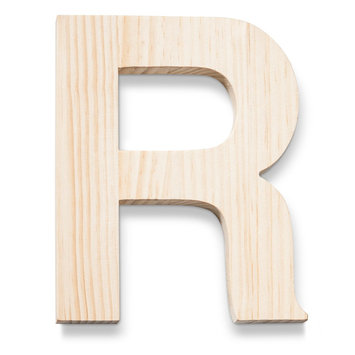 Hand Made Modern - Wood Letters - R