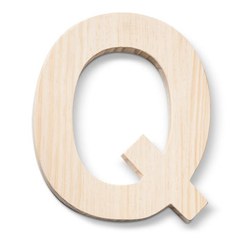 Hand Made Modern - Wood Letters - Q