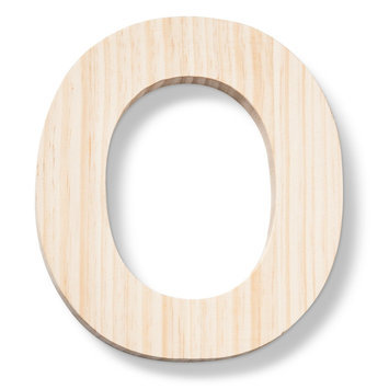 Hand Made Modern - Wood Letters - O