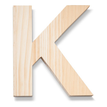 Hand Made Modern - Wood Letters - K