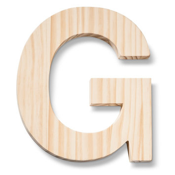 Hand Made Modern - Wood Letters - G
