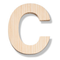 Hand Made Modern - Wood Letters - C