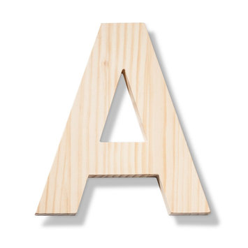 Hand Made Modern - Wood Letters - A