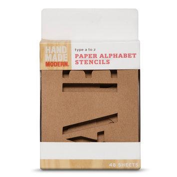 Hand Made Modern - Paper Alphabet Stencils - 48ct
