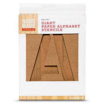 Hand Made Modern - Giant Paper Alphabet Stencils - 26 ct