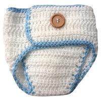 So Dorable Newborn Boys' Crocheted Baseball Diaper Cover - Blue 0-6 M