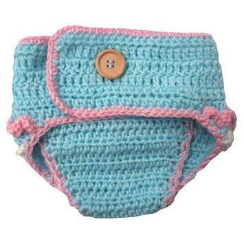 So Dorable Newborn Girls' Crocheted Owl Diaper Cover - Pink 0-6 M
