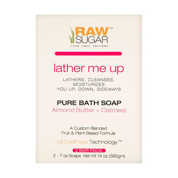 RAW Sugar Lather Me Up Almond Butter+Oatmeal Pure Bath Soap - 2 Count