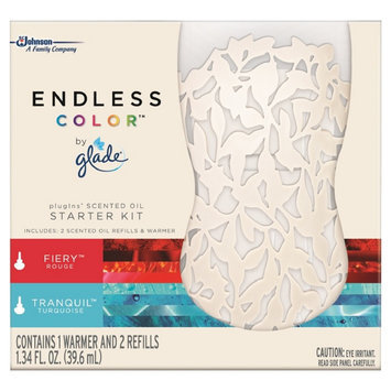 S.c. Johnson Glade Endless Color Fiery Rouge & Tranquil Turquoise Starter Kit 1.34 oz