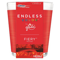 S.c. Johnson Glade Endless Color Fiery Rouge Candle 9 oz