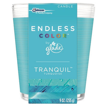 S.c. Johnson Glade Endless Color Tranquil Turquoise Candle 9 oz