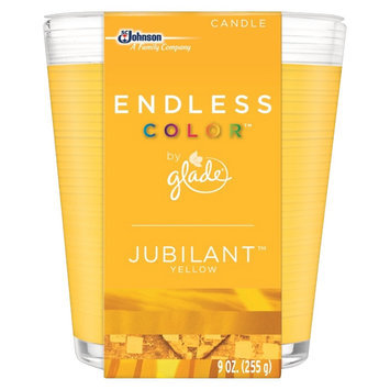 S.c. Johnson Glade Endless Color Jubilant Yellow Candle 9 oz