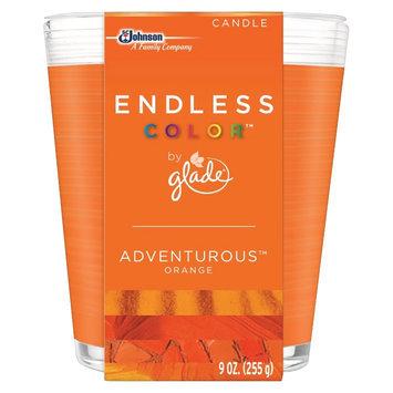 S.c. Johnson Glade Endless Color Adventurous Orange Candle 9 oz