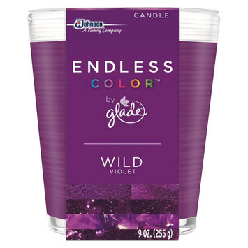 S.c. Johnson Glade Endless Color Wild Violet Candle 9 oz