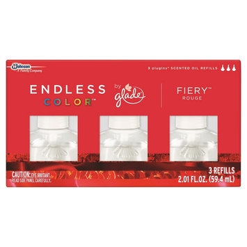 S.c. Johnson Glade Endless Color Fiery Rouge Scented Oil Refill 3 ct, 2.01 oz