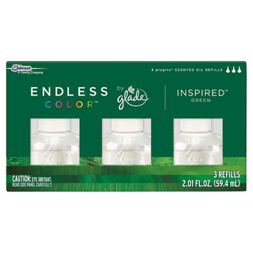 S.c. Johnson Glade Endless Color Inspired Green Scented Oil Refill 3 ct, 2.01 oz