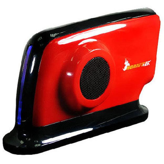 """HornetTek Hornettek HD308U2SR Hover 3.5"""" USB 2.0 Dual Fan External Enclosure, Ferrari Red"""