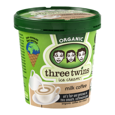 Three Twins Ice Cream Organic Milk Coffee