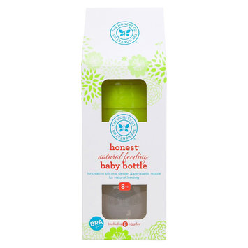 The Honest Company Silicone Bottle (Green) - 8 oz