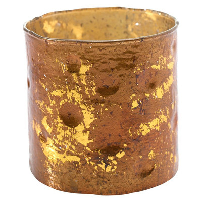 Accent Decor 6.5 X 6.5 X 5 Inch Gold Multiple Candle Holder