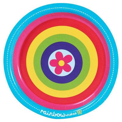 Birthday Express Rainbow Wishes Dessert Plates (8)