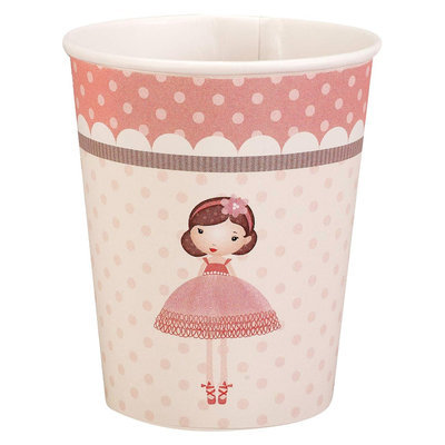Birthdayexpress Ballerina Tutu 9 oz. Paper Cups (8)