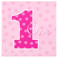 Party Destination Girls Everything One Girl Lunch Napkins - Count (20)