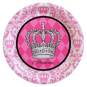 Birthday Express Elegant Princess Damask 1st Birthday Dinner Plates (8)