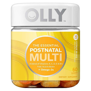Olly The Essential Postnatal Multi-Vitamin Citrus Bliss Gummies - 60 Count
