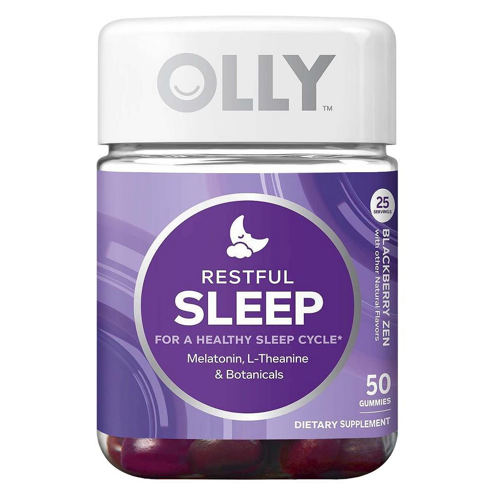 Olly Restful Sleep Blackberry Zen Vitamin Gummies - 50 Count