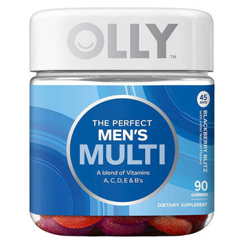 Olly The Perfect Men's Multi-Vitamin Blackberry Blitz Vitamin Gummies - 90 Count