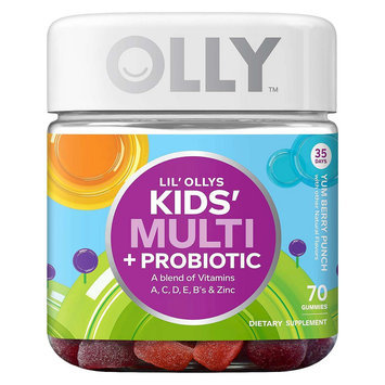 Lil'Olly's Kid's Multi+Probiotic Yum Berry Punch Vitamin Gummies - 70 Count