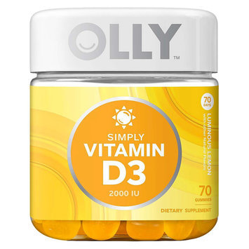 Olly Simply Vitamin D3 Luminous Lemon Gummies - 70 Count