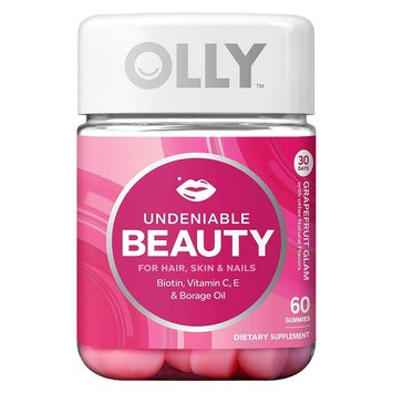 Olly Undeniable Beauty Grapefruit Glam Vitamin Gummies - 60 Count