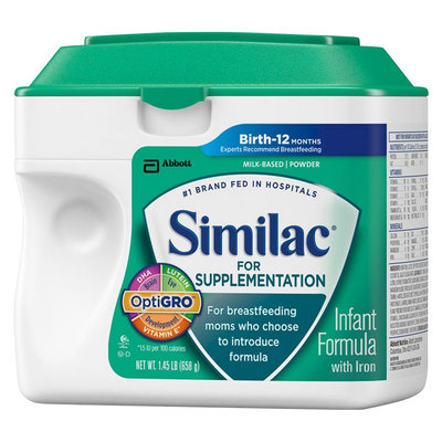Similac Supplementation Similac for Supplementation Infant Formula Powder - 1.45lb (4 Pack)