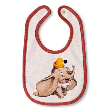 Tawil Associates Disney Newborn Dumbo Bib - Oatmean Heather
