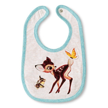 Tawil Associates Disney Newborn Bambi Bib - Oatmean Heather